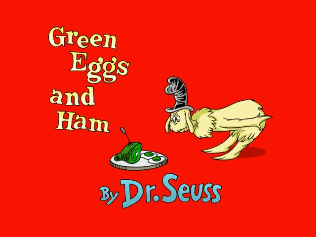 Living Books - ... Dr. Seuss Green Eggs And Ham Book Online
