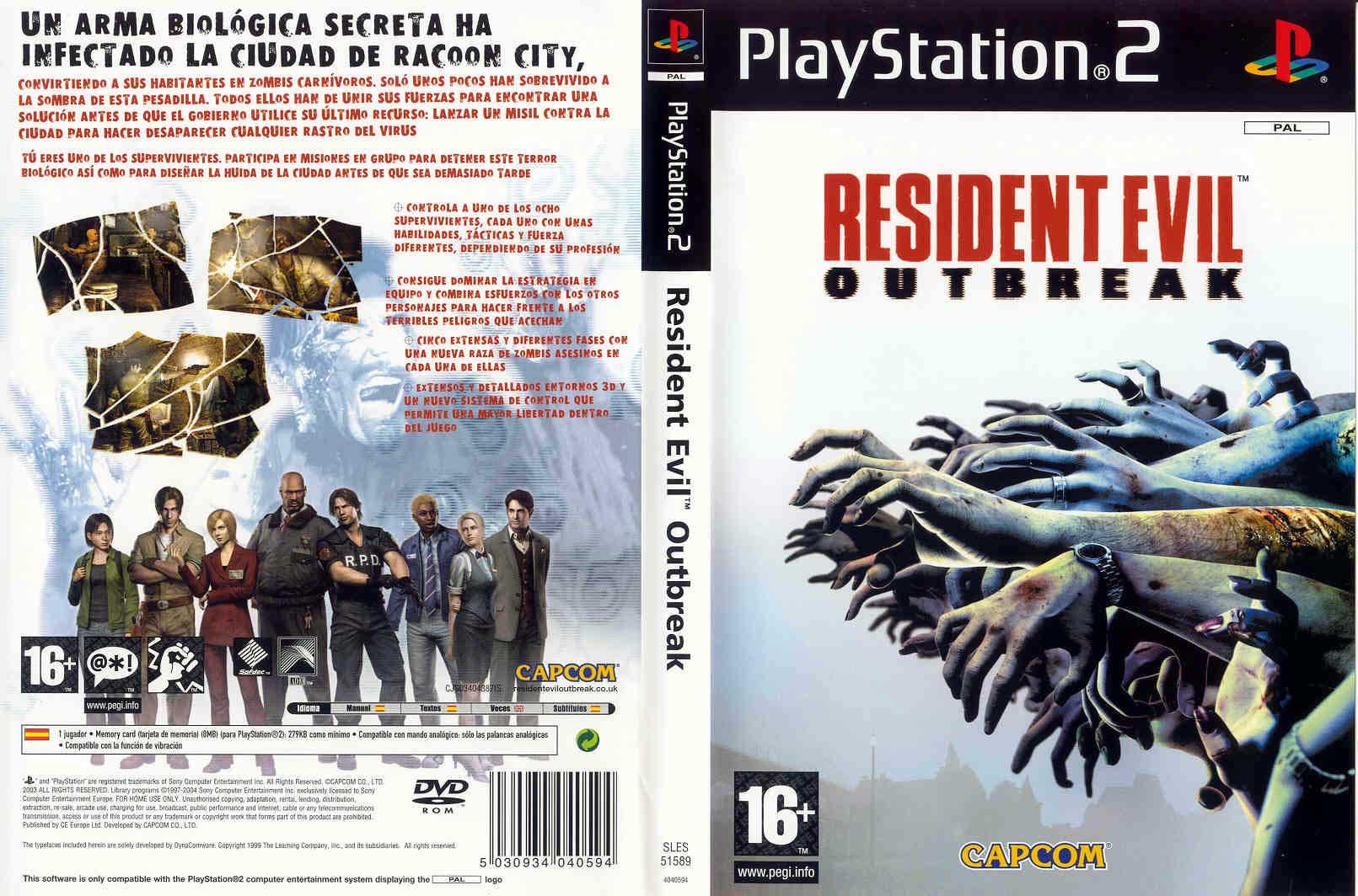 Resident Evil Outbreak Europe En Fr De Es It Iso