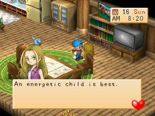 Screenshot Thumbnail  / Media File 2 for Harvest Moon - Back to Nature [U]