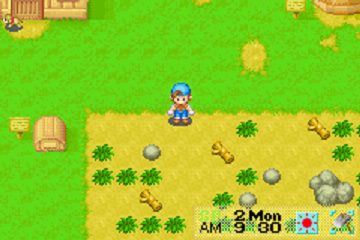harvest moon friends of mineral town gba: